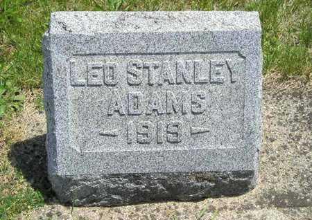 ADAMS, LEO STANLEY - Branch County, Michigan | LEO STANLEY ADAMS - Michigan Gravestone Photos