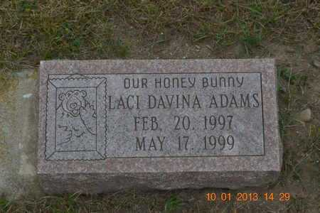 ADAMS, LACI DAVINA - Branch County, Michigan | LACI DAVINA ADAMS - Michigan Gravestone Photos