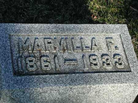 ADAMS, MARVILLA - Branch County, Michigan | MARVILLA ADAMS - Michigan Gravestone Photos
