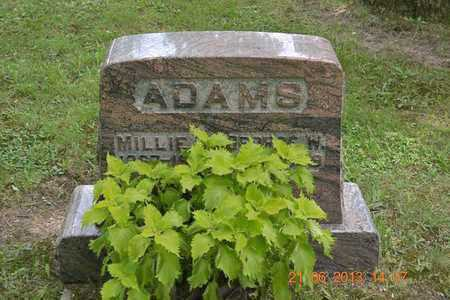 ADAMS, MILLIE M. - Branch County, Michigan   MILLIE M. ADAMS - Michigan Gravestone Photos