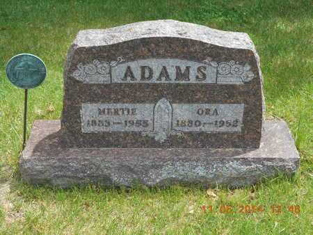 ADAMS, ORA - Branch County, Michigan | ORA ADAMS - Michigan Gravestone Photos
