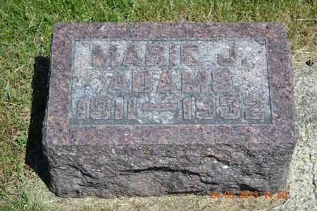 ADAMS, MARIE J. - Branch County, Michigan | MARIE J. ADAMS - Michigan Gravestone Photos