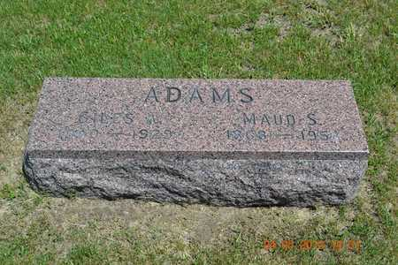 ADAMS, GILES A. - Branch County, Michigan | GILES A. ADAMS - Michigan Gravestone Photos