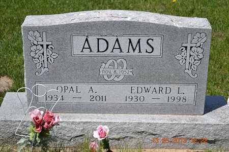 ADAMS, EDWARD L. - Branch County, Michigan   EDWARD L. ADAMS - Michigan Gravestone Photos