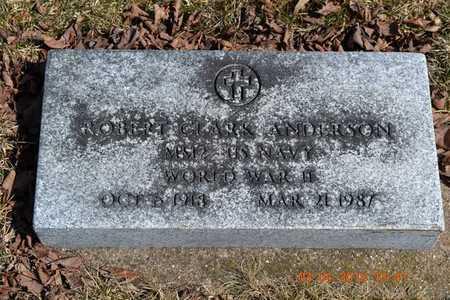ANDERSON, ROBERT CLARK - Branch County, Michigan | ROBERT CLARK ANDERSON - Michigan Gravestone Photos