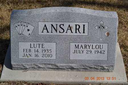 ANSARI, MARYLOU - Branch County, Michigan | MARYLOU ANSARI - Michigan Gravestone Photos