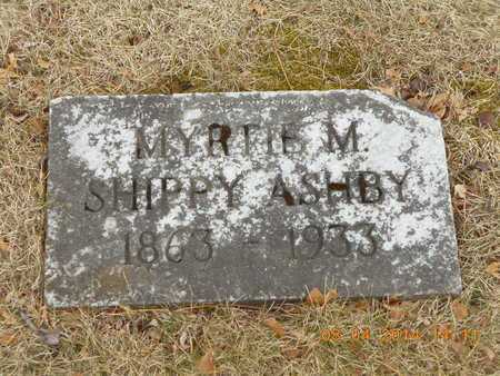 SHIPPY ASHBY, MYRTLE M. - Branch County, Michigan | MYRTLE M. SHIPPY ASHBY - Michigan Gravestone Photos