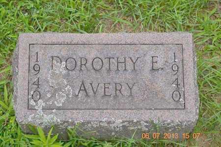 AVERY, DOROTHY E. - Branch County, Michigan | DOROTHY E. AVERY - Michigan Gravestone Photos