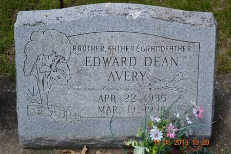 AVERY, EDWARD DEAN - Branch County, Michigan | EDWARD DEAN AVERY - Michigan Gravestone Photos