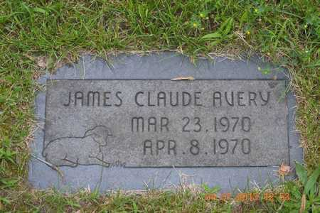 AVERY, JAMES CLAUDE - Branch County, Michigan | JAMES CLAUDE AVERY - Michigan Gravestone Photos