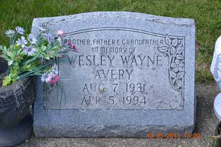 AVERY, WESLEY WAYNE - Branch County, Michigan | WESLEY WAYNE AVERY - Michigan Gravestone Photos