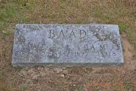 BAAD, DALE H. - Branch County, Michigan   DALE H. BAAD - Michigan Gravestone Photos