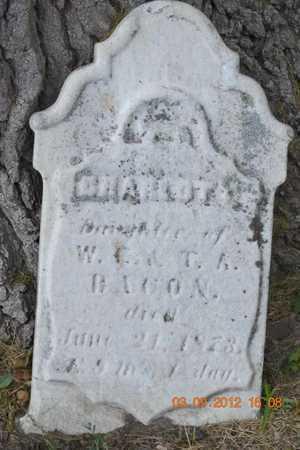 BACON, CHARLOTT - Branch County, Michigan | CHARLOTT BACON - Michigan Gravestone Photos