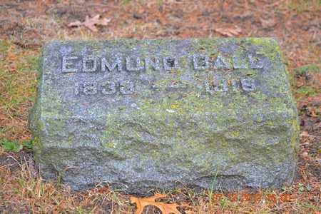 BALL, EDMUND - Branch County, Michigan | EDMUND BALL - Michigan Gravestone Photos