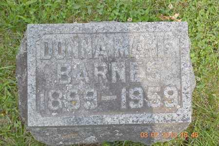 BARNES, DONNA MARIE - Branch County, Michigan   DONNA MARIE BARNES - Michigan Gravestone Photos