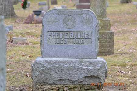 BARNES, FRED E. - Branch County, Michigan | FRED E. BARNES - Michigan Gravestone Photos