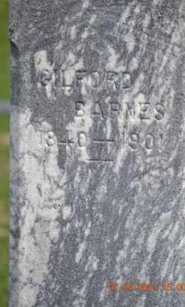 BARNES, GILFORD(CLOSEUP) - Branch County, Michigan | GILFORD(CLOSEUP) BARNES - Michigan Gravestone Photos