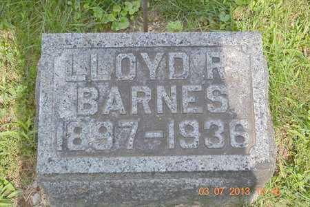 BARNES, LLOYD R. - Branch County, Michigan   LLOYD R. BARNES - Michigan Gravestone Photos