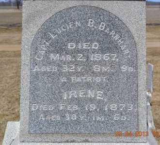 BARNHART, CAPTAIN LUCIEN B. - Branch County, Michigan | CAPTAIN LUCIEN B. BARNHART - Michigan Gravestone Photos