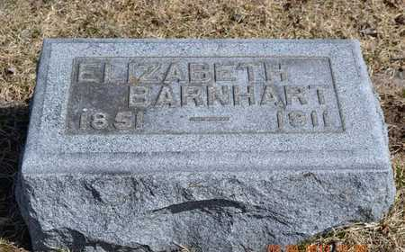 BARNHART, ELIZABETH - Branch County, Michigan   ELIZABETH BARNHART - Michigan Gravestone Photos