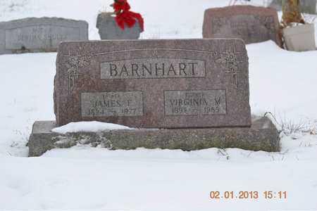 BARNHART, VIRGINIA M. - Branch County, Michigan   VIRGINIA M. BARNHART - Michigan Gravestone Photos