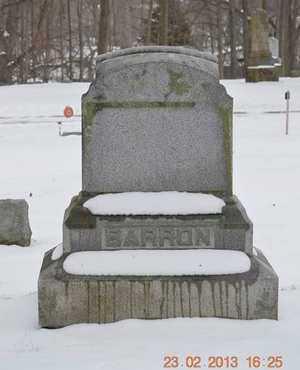 BARRON, FAMILY - Branch County, Michigan   FAMILY BARRON - Michigan Gravestone Photos