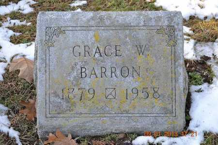 BARRON, GRACE WILHELMINA - Branch County, Michigan | GRACE WILHELMINA BARRON - Michigan Gravestone Photos
