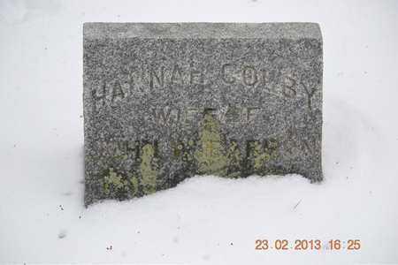 BARRON, HANNAH - Branch County, Michigan | HANNAH BARRON - Michigan Gravestone Photos