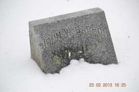 BARRON, JOHN W. - Branch County, Michigan | JOHN W. BARRON - Michigan Gravestone Photos