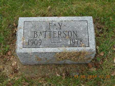 BATTERSON, FAY - Branch County, Michigan   FAY BATTERSON - Michigan Gravestone Photos