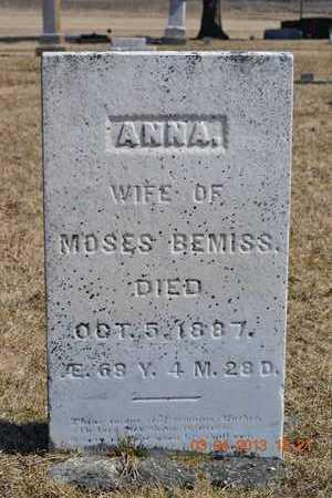 BEMISS, ANNA - Branch County, Michigan | ANNA BEMISS - Michigan Gravestone Photos