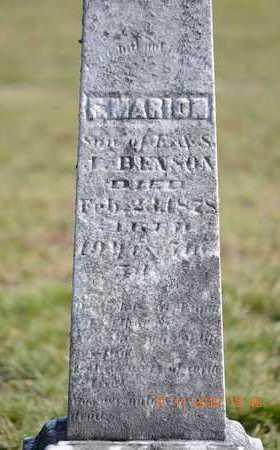 BENSON, F. MARION - Branch County, Michigan   F. MARION BENSON - Michigan Gravestone Photos