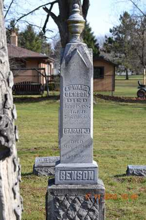 BENSON, SARAH J. - Branch County, Michigan | SARAH J. BENSON - Michigan Gravestone Photos