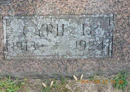 BENTON, CYRIL D. - Branch County, Michigan   CYRIL D. BENTON - Michigan Gravestone Photos