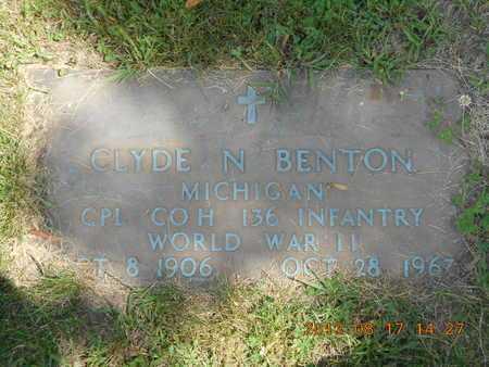 BENTON, CLYDE N. - Branch County, Michigan | CLYDE N. BENTON - Michigan Gravestone Photos