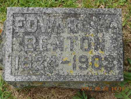 BENTON, EDWARD W. - Branch County, Michigan | EDWARD W. BENTON - Michigan Gravestone Photos