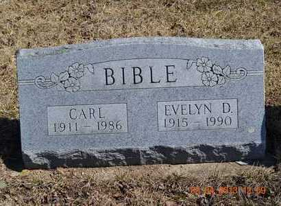 BIBLE, EVELYN D. - Branch County, Michigan | EVELYN D. BIBLE - Michigan Gravestone Photos