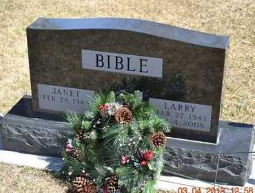 BIBLE, LARRY - Branch County, Michigan | LARRY BIBLE - Michigan Gravestone Photos