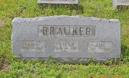 BRAUKER, FAY - Branch County, Michigan | FAY BRAUKER - Michigan Gravestone Photos