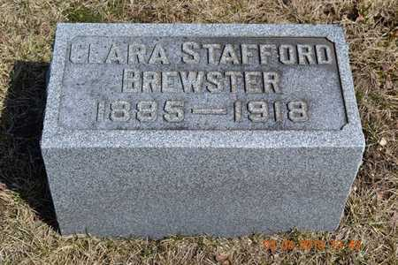 BREWSTER, CLARA - Branch County, Michigan | CLARA BREWSTER - Michigan Gravestone Photos