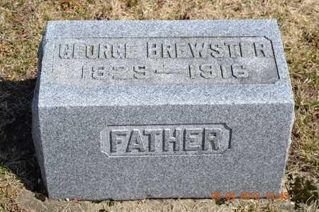 BREWSTER, GEORGE - Branch County, Michigan   GEORGE BREWSTER - Michigan Gravestone Photos