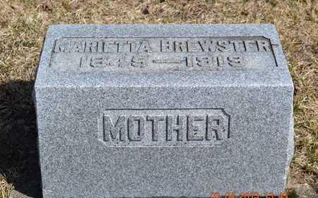 BREWSTER, MARIETTA - Branch County, Michigan | MARIETTA BREWSTER - Michigan Gravestone Photos