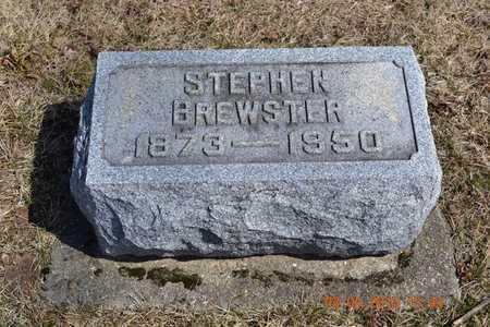 BREWSTER, STEPHEN - Branch County, Michigan   STEPHEN BREWSTER - Michigan Gravestone Photos