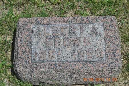 BROWN, ALBERT A. - Branch County, Michigan | ALBERT A. BROWN - Michigan Gravestone Photos