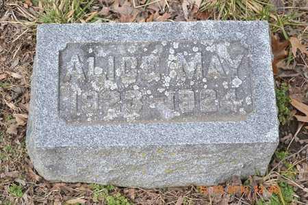 BROWN, ALICE MAY - Branch County, Michigan | ALICE MAY BROWN - Michigan Gravestone Photos