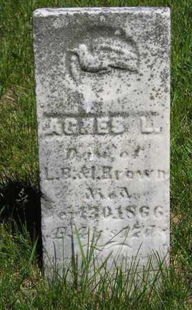 BROWN, AGNES L. - Branch County, Michigan | AGNES L. BROWN - Michigan Gravestone Photos