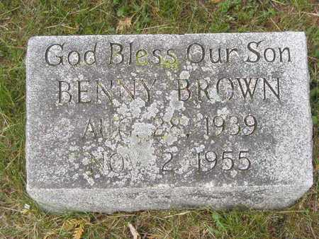 BROWN, BENNY - Branch County, Michigan | BENNY BROWN - Michigan Gravestone Photos