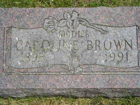 BROWN, CAROLINE - Branch County, Michigan   CAROLINE BROWN - Michigan Gravestone Photos