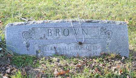 BROWN, CHARLOTTE - Branch County, Michigan   CHARLOTTE BROWN - Michigan Gravestone Photos