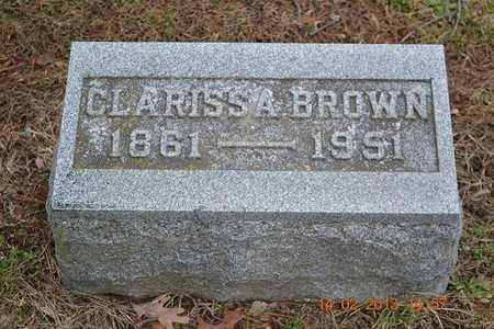 BROWN, CLARISSA - Branch County, Michigan | CLARISSA BROWN - Michigan Gravestone Photos